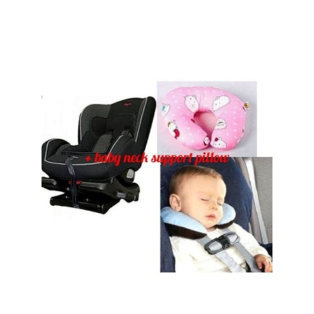Generic Top 2 Infant Polka Dot Car Seat( 0- 7 years) + A assorted color baby neck support pillow