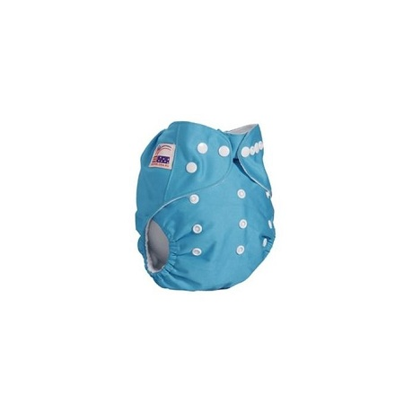 Generic Washable Reusable Adjustable Baby Diaper with 3 Inserts-Blue