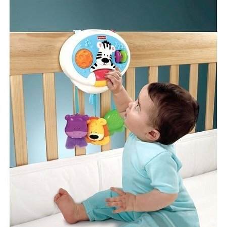 Generic 2-in-1-activity-friends-Baby COT/Baby Crib toys