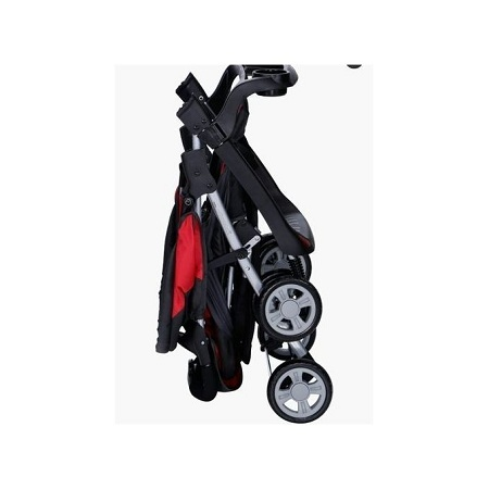 Generic 3 in 1 baby stroller set- Red & Black plus free gift