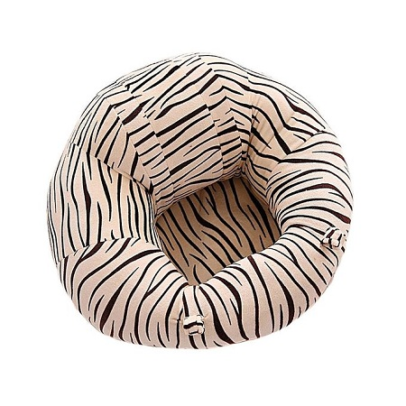 Generic comfy Baby Support Sit Me Up Pillow(white with black stripes)