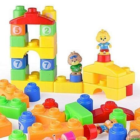 Generic 58-piece Cartoon Themed Kids Educational Building Blocks