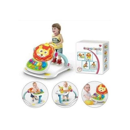 Huanger 4 in 1 Multifunctional Baby Walker-Multicolor plus free gift