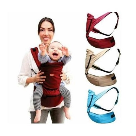 Imama Superior Breathable Hipseat Baby Carrier - Maroon (upto 18kgs)