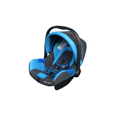 Infant Baby Car Seat/ Carry Cot - sapphire blue/black with head cushion (big)