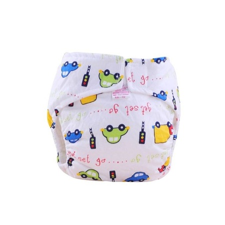 Neworldline 1PC Cute Baby Cotton Training Pants Reusable Infants Nappies Diapers S-AS Shown
