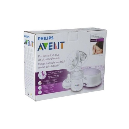 Philips AVENT Electric Breast Pump with Free Disposable Breast Pad - Clear