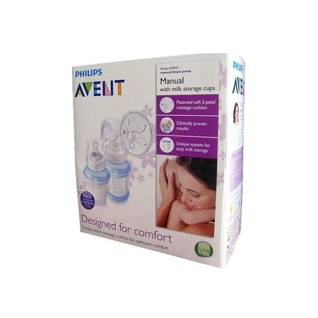 Philips AVENT Manual Breast Pump+ FREE reusable cups