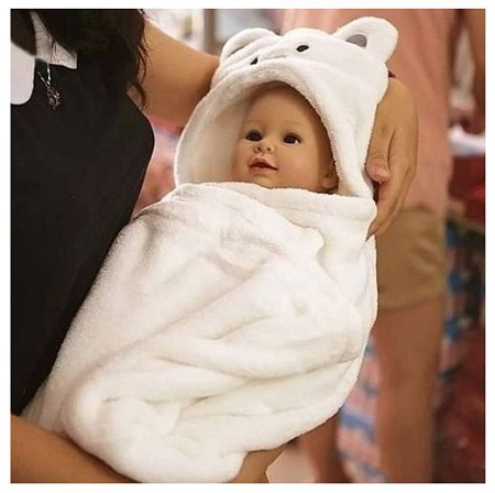 Baby Hooded Blanket- Unisex, Warm ,Super Soft and Comfortable