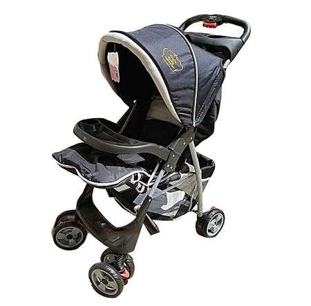 Baby Stroller/ Foldable Stroller With Universal Casters- Black