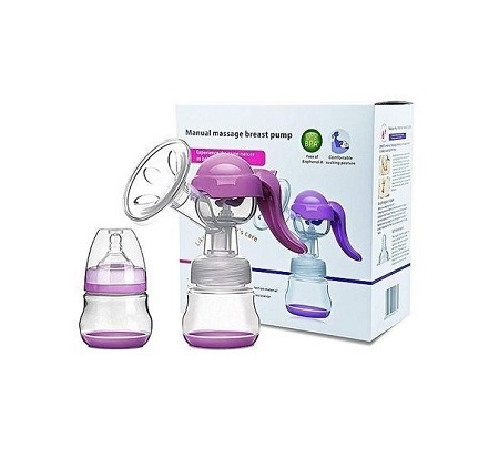 Healthy Manual Breast Pump + Free Baby Bottle Cap