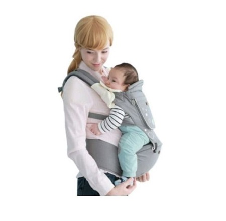 Breathable Hipseat Baby Carrier - Grey