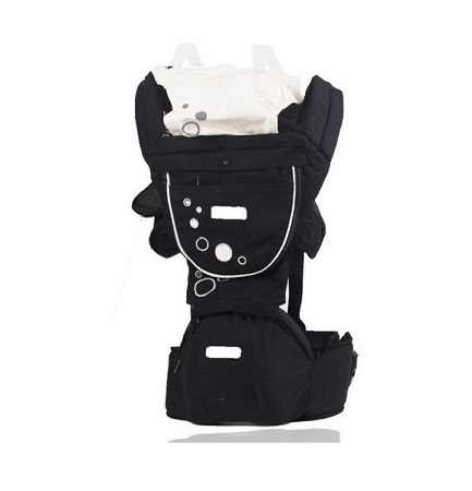 Breathable Hipseat Baby Carrier - Black