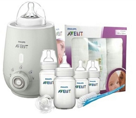 Philips AVENT Bundle- Bottle Warmer & Avent New Starter Kit
