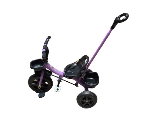 Sporty Kids Tri-cycle With Toy Basket & Bottle Holder- Purple