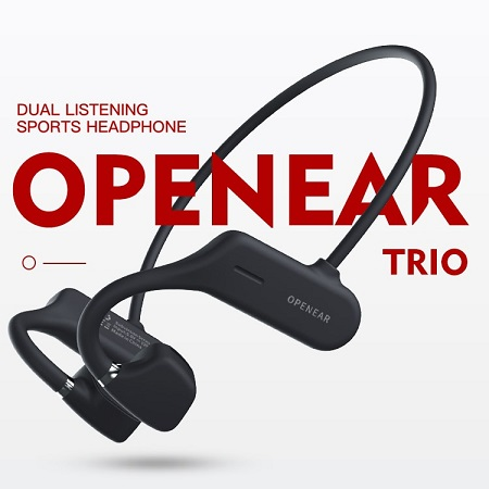 Trio OPENEAR Wireless Head Phones- Black