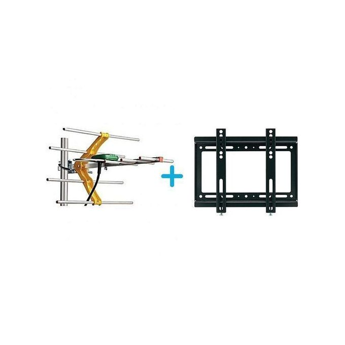 Digital TV Aerial + TV Wall Mount Bracket 14 Inch - 42 Inch