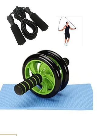Skipping Ropes + AB Double Wheels Roller