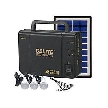 GDLITE Solar Panel, LED 3 Lights And Phone Charging Kit