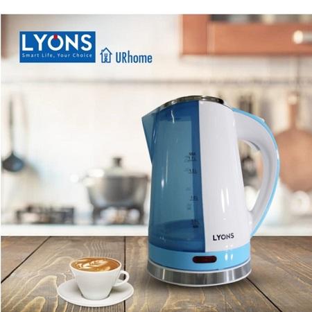 Lyons Electric Kettle Plastic 1.7L