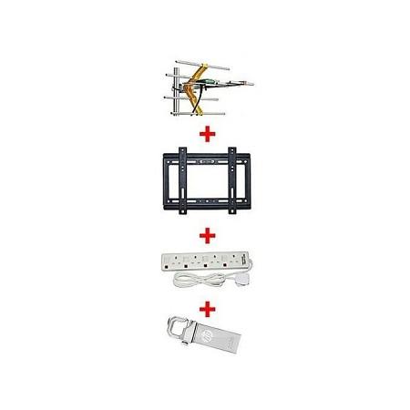 Phelistar Aerial Plus Free 14-42 Inch TV wall bracket + 4 way extension socket + 32Gb flash drive