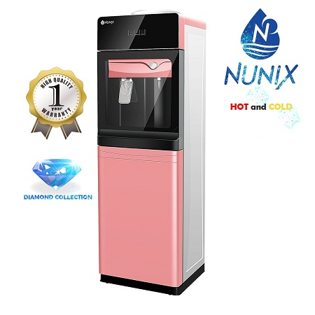 Nunix Hot and Cold Free Standing Water Dispenser-Pink