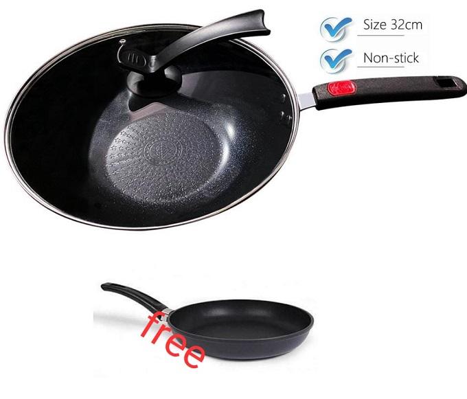 Buy Deep Nonstick Pan Get Free a Pancake Pan