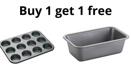 BUY 12 Hole Muffin Tray and Get One Non Stick Box Loaf Tin for FREE