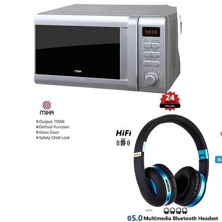 20 Litre Mika Microwave + Free Headphones