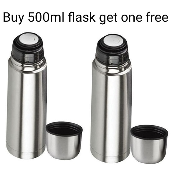 Buy 500ml Stainless Steel Flask and GET 1 FREE
