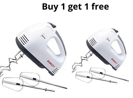 Buy A Portable Scarlet Portable Super Hand mixer And Get ONE FREE