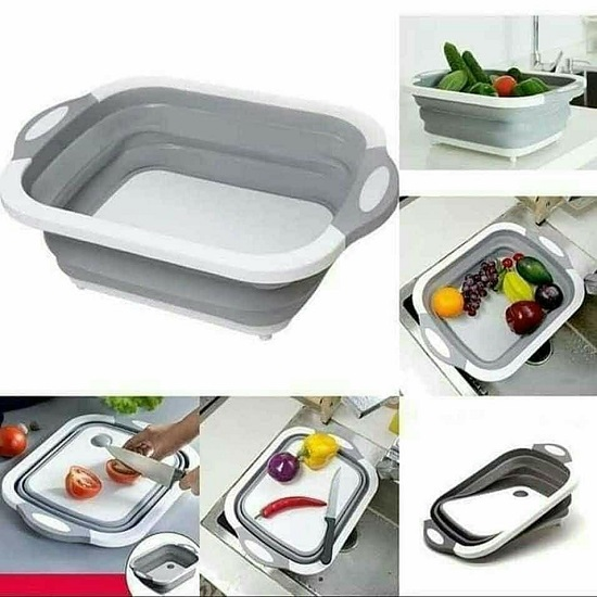 3 in 1 Collapsible Foldable Chopping Board, Trough And Drainer