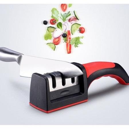 Three Stages Diamond Ceramic Knife Sharpener Kitchen Gadget