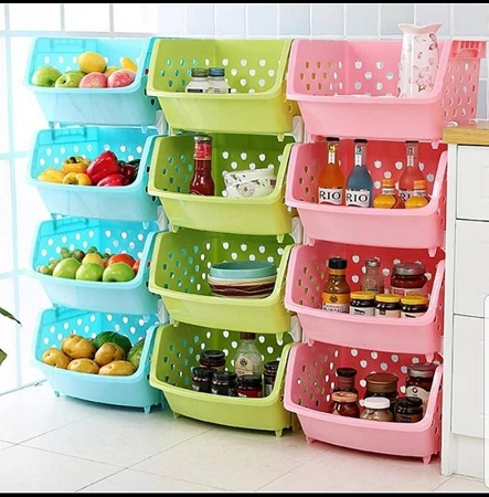 4 Tier Vegetable Rack(Color May Vary)
