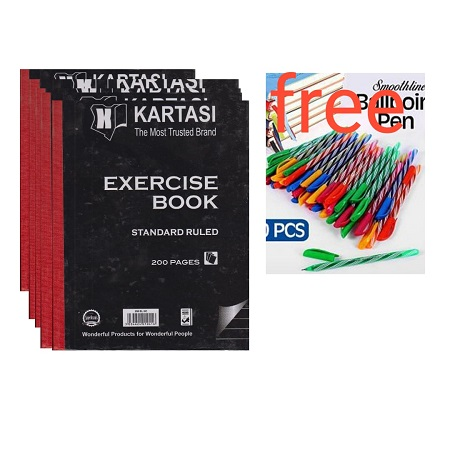 Karatasi 5 Hard Covered Books and Free Ball Points