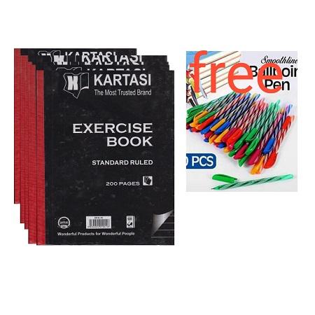 Karatasi 5 Hard Covered Books and Free Ball Points