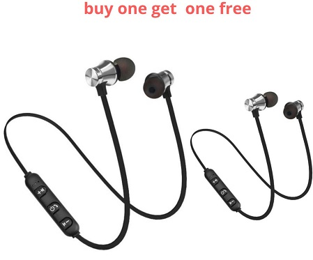 Bluetooth Magnetic Earphones Buy One Get One FREE
