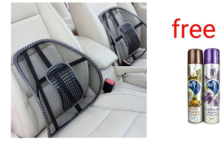 Lower Back Car Seat Support  PLUS FREE Air Freshener