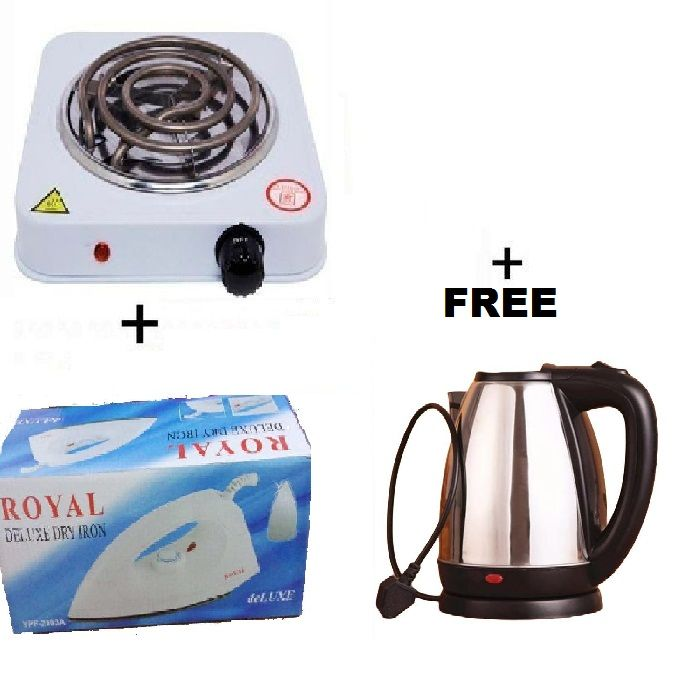 Generic Electric Cooker + STEAM IRON BOX + FREE KETTLE
