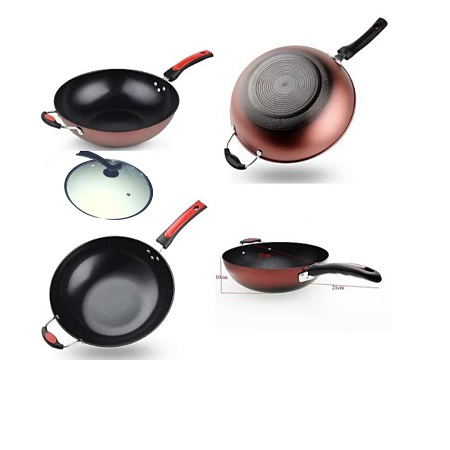 Deep Frying Pan with Lid- 34 cm