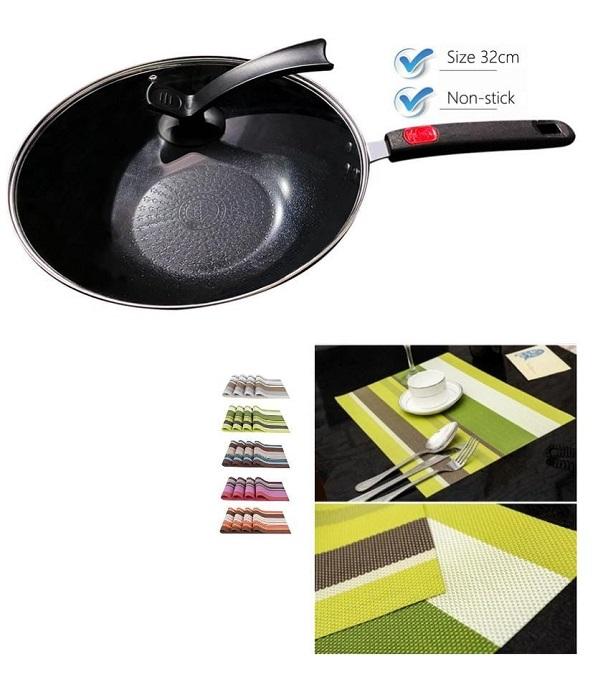 Buy Deep Nonstick Pan and Get Free Table Mats