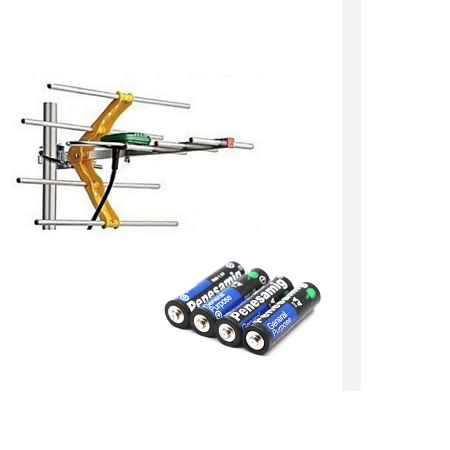 Digital Aerial + Four Remote Batteries