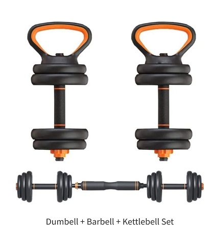 Dumbbell, Can Be Used As Barbell, Kettlebell, Adjustable Weight,10kg