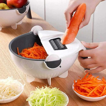 Kitchen Vegetable and Fruits Food Chopper/Slicer/Dicer /Grater Cutter With Storage Container