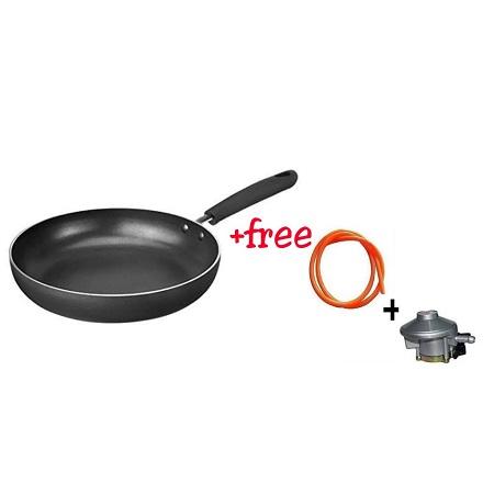 Frying Pan + Free Gas Regulator & Gas Pipe