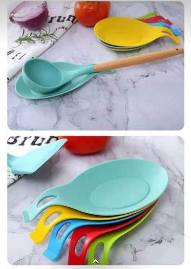 Kitchen Silicone Spoon Rest - Assorted