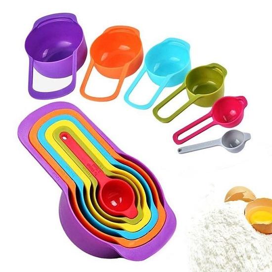 Measuring Cup & Spoons Set -6pcs -Multicolor