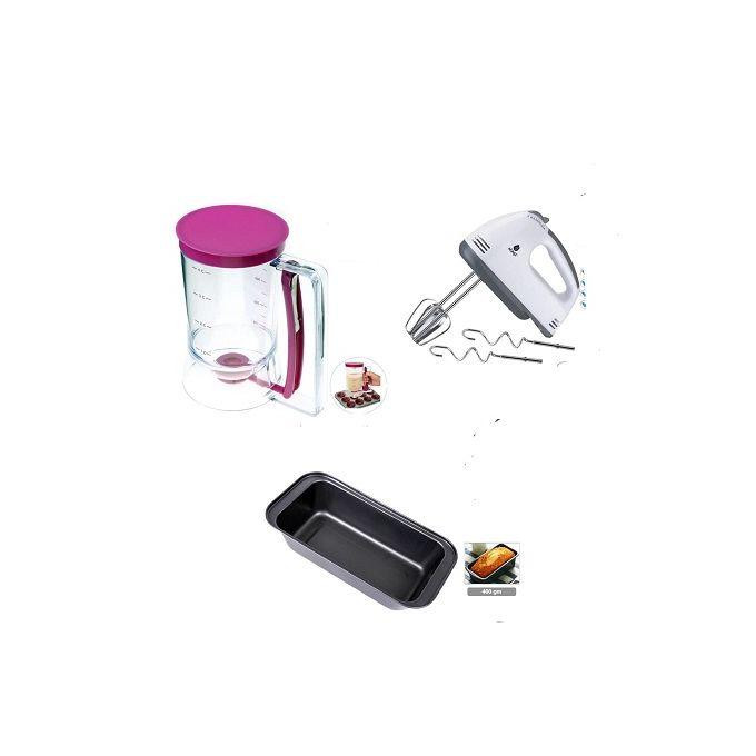 Electric Hand Mixer+ Batter Dispenser +Baking Tin