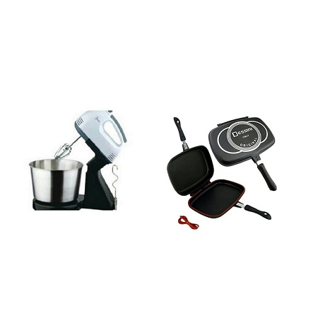 Kitchen Hand/ Stand Mixer with Bowl + Double Grill Dessini Pan