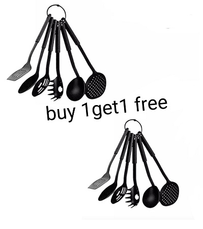 Non Stick Kitchen Spoons Six Pieces Buy One Get One FREE